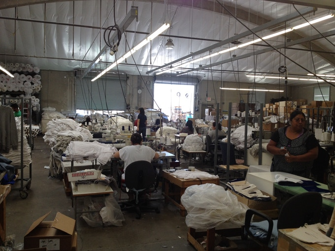 Los Angeles manufacturer located 1/2 hr from where fabrics are printed