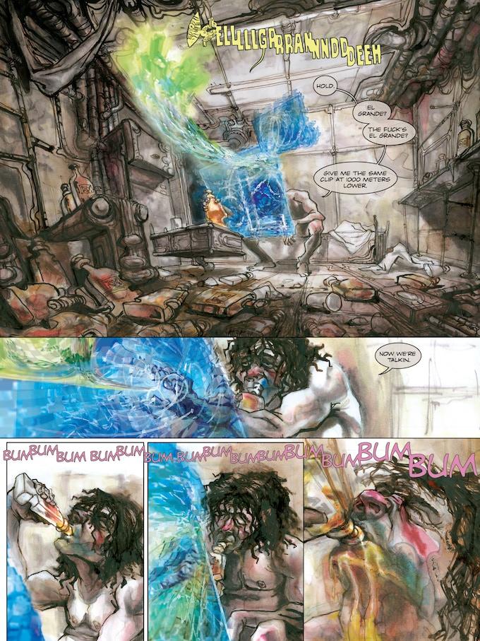 """""""El Grande"""" Page 10 by project artist Elio Guevara"""