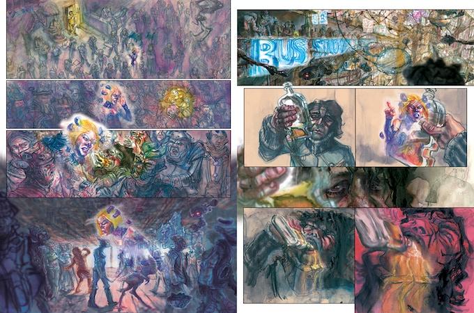 """""""El Grande"""" Pages 15-16 by project artist Elio Guevara"""