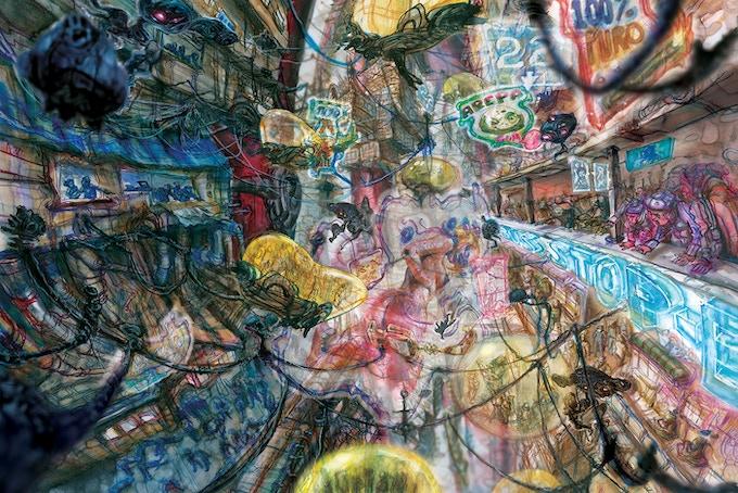 """""""El Grande"""" Pages 18-19 by project artist Elio Guevara"""