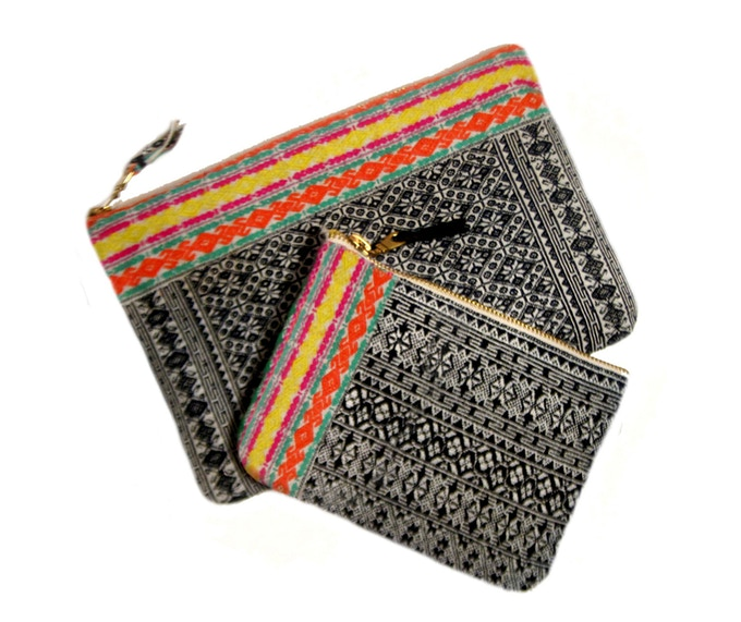 """Basha Pouch, approx. 5"""" x 7""""  &  Zhaoxing Travel Bag, approx. 7.5"""" x 10"""""""