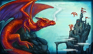 #4 Red Dragon Mat (CLICK FOR LARGE PREVIEW)