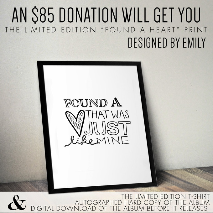 "Limited Edition ""Found a Heart"" art print, designed by Emily! *8x10 *frame not included"