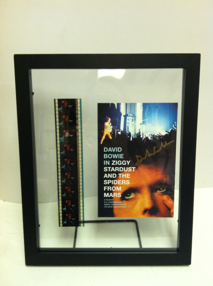 ZIGGY STARDUST Framed 35mm Print and Card Signed by Penny