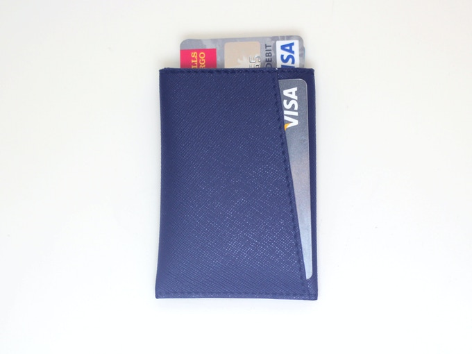 Navy Saffiano Leather
