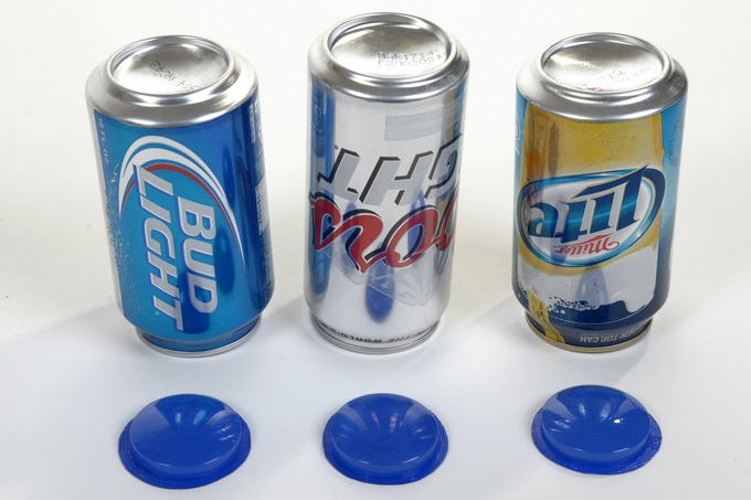 ALL CANS HAVE THE SAME SHAPED BOTTOM.  THE BEER BLIZZARD FITS THEM ALL.