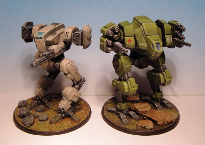 15mm scale Mecha Front models painted by Tim Williamson