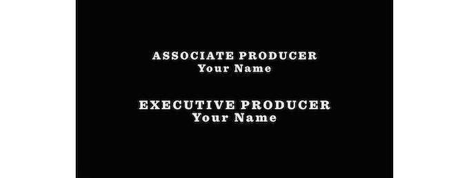 Become Associate or Executive Producer