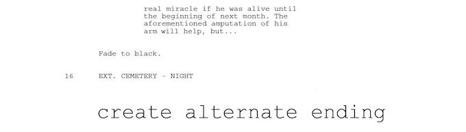 Create alternate ending