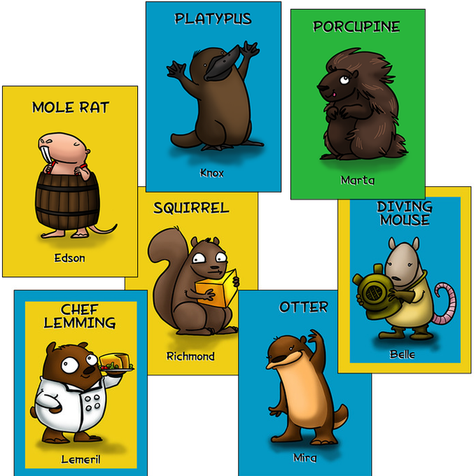 Get these seven extra role cards along with your eight Mice and Lemmings when we hit our funding goal!
