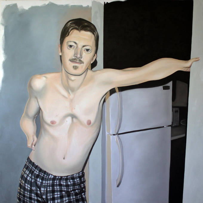 """Logan"" by Nathan Meier, 54 x 54 inches, oil on canvas"