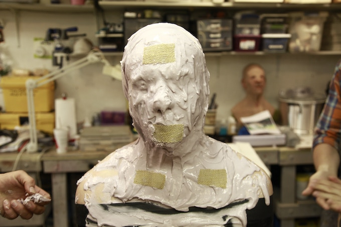 Actor Jason Burkey getting his head cast at Toby Sells' make-up FX. Toby has done make up FX for The Walking Dead, Vampire Diaries and Zombieland to name a few.