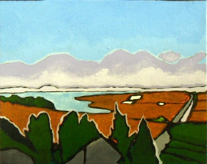 """Arcata Bottoms and Humboldt Bay"" by Sonny Wong $150"