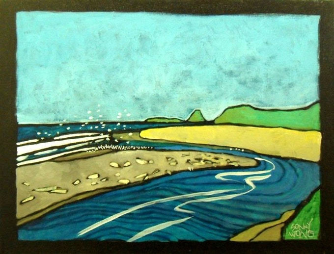 """Mouth of the Mad River"" by Sonny Wong Acrylic on Canvas $150"