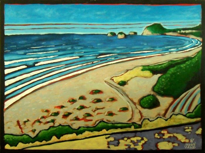 """North to Trinidad"" by Sonny Wong. Acrylic on Canvas $150"