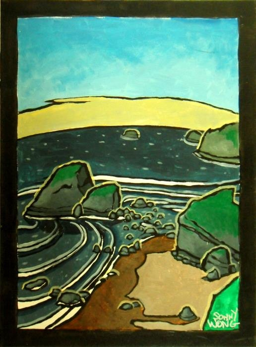 """Camel Rock"" by Sonny Wong (picture below left) Acrylic on Canvas $175"
