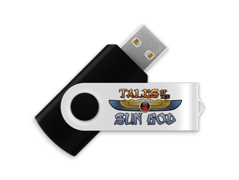 A $50 pledge will also include the entire Tales of the Sun God project on a custom USB flash drive!