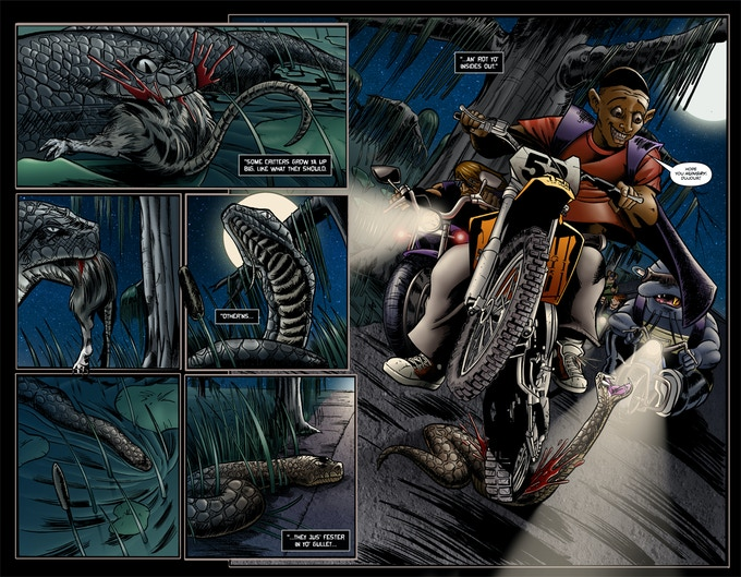 Roadkill du Jour 3 - Pages 2-3 - Fully Colored & Lettered!