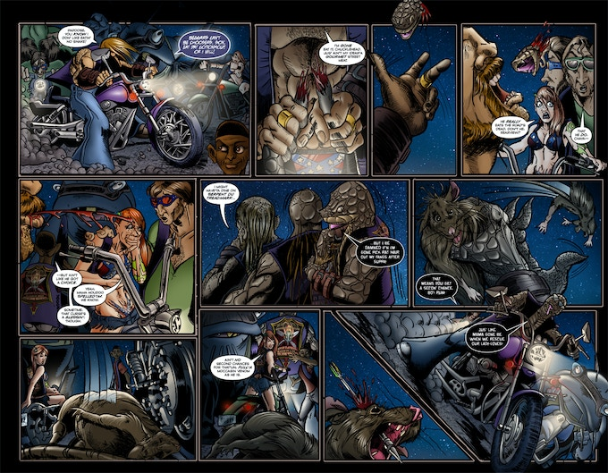 Roadkill du Jour 3 - Pages 4-5 - Fully Colored & Lettered!