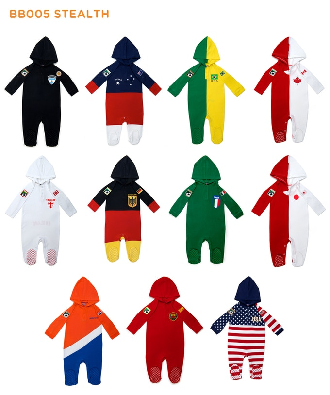 "Other colors available for each country (2-4 Colors) in BB005 ""Show your colors"""