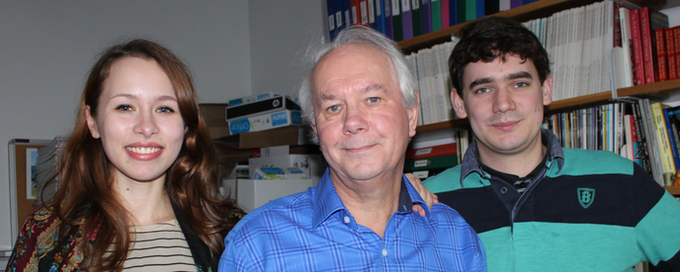 Olga and Lawrence with Prof. Ian Stewart
