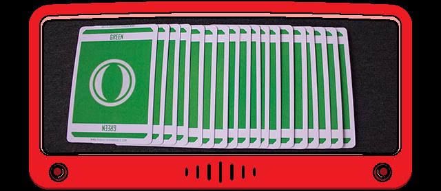 18 Green cards - card weight: 300 gsm