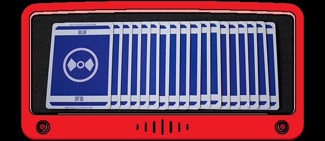 18 Blue cards - card weight: 300 gsm