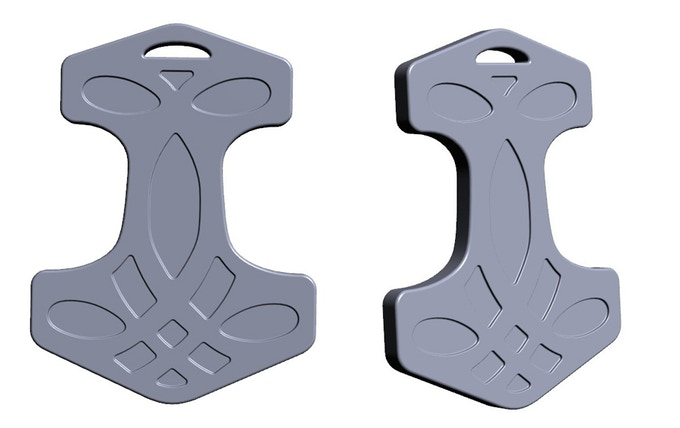 First 3D rendering of Thor's Hammer