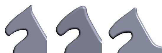 First, second and final 3D rendering of Sleipnir's ear