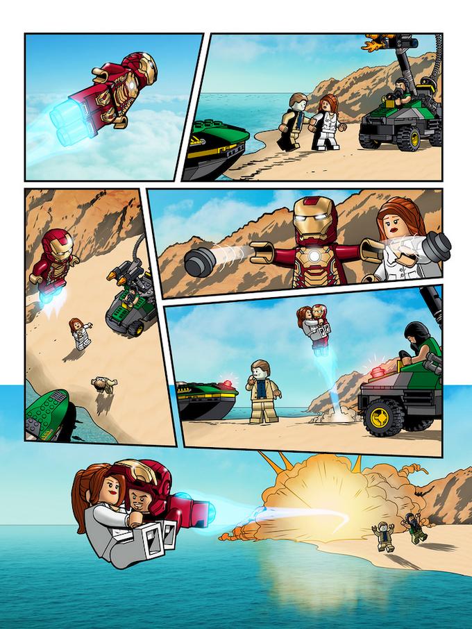 One of Paul Lee's Iron Man LEGO comics.