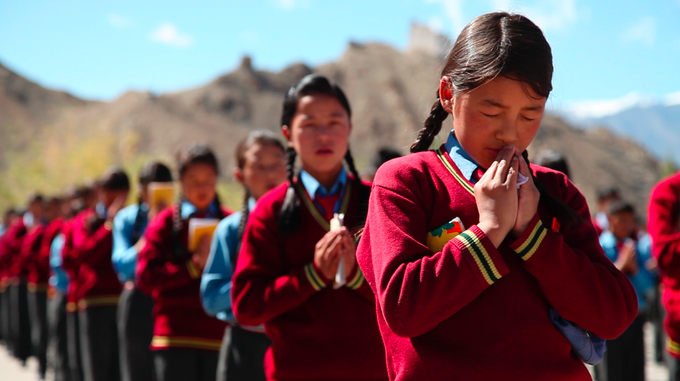 The Lamdon School was founded in 1972 to preserve the Bhoti language and the Ladakhi cultural traditions