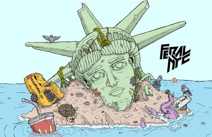 Feral NYC Ellis Island Poster