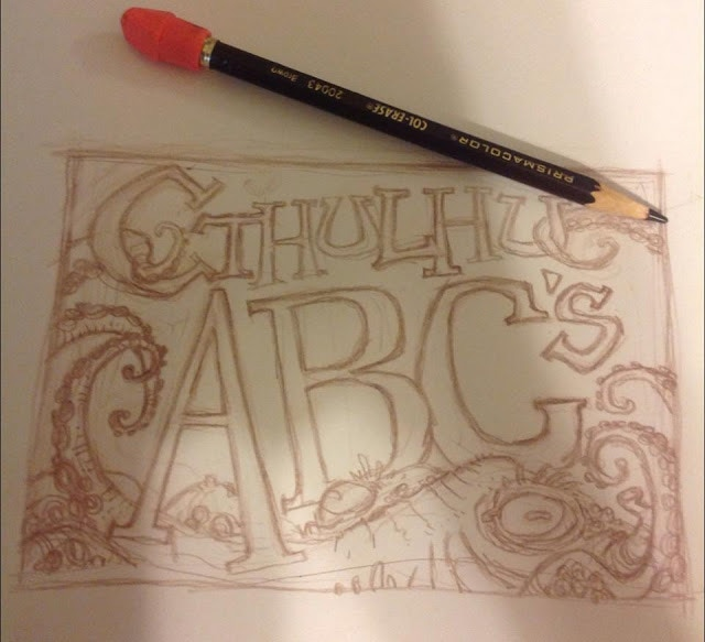 The first sketch of the cover.