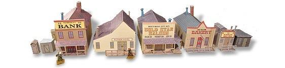 Whitewash City Model Set #1