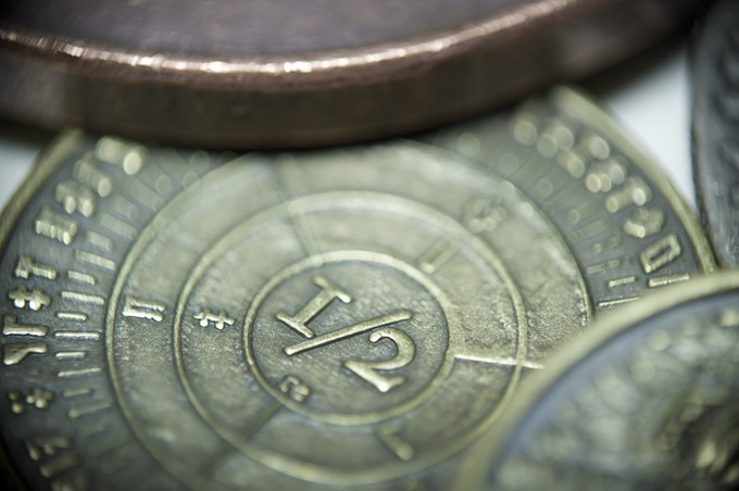 Detail of the 1/2 Denomination, Yeth Hound coin- Stretch Goal