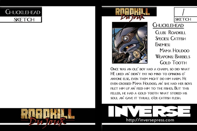 Loyalty Reward - Additional SKETCH Card of Chucklehead by Amanda Rachels for ALL Previous Backers of One of Our Campaigns!