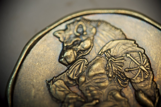 Detail of the Gnoll, 20 Denomination coin