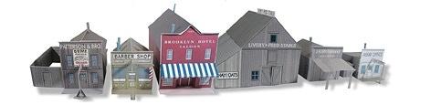 Whitewash City Model Set #4