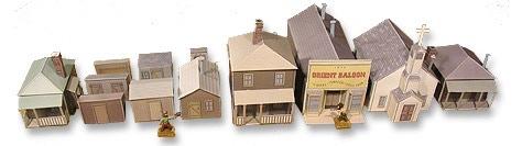 Whitewash City Model Set #6