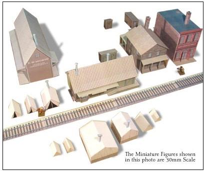 Whitewash City Model Set #8