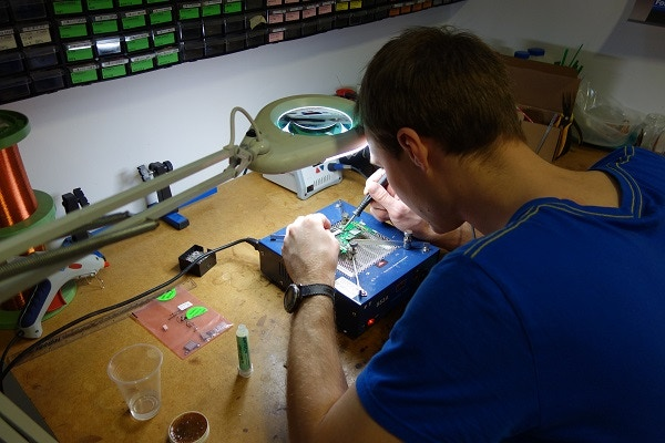 Final touches to the prototype assembly