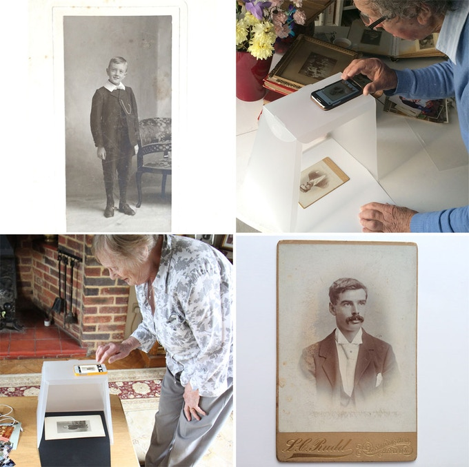 Genealogists and those wanting to preserve photos can use the Lightcase to digitise family albums