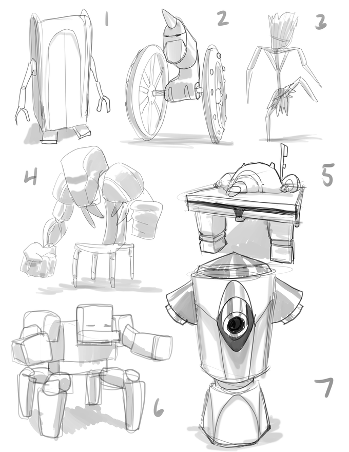 A few enemy concept sketches