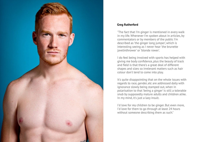 English model and Olympic gold medalist Greg Rutherford