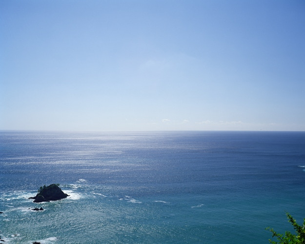 Views of the Pacific Ocean dominate the route along Shikoku's Eastern perimeter: available as a postcard as one of the rewards.