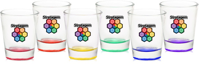 """These beautiful set of 1.75 oz shot glasses are 2"""" wide by 2.25"""" tall"""