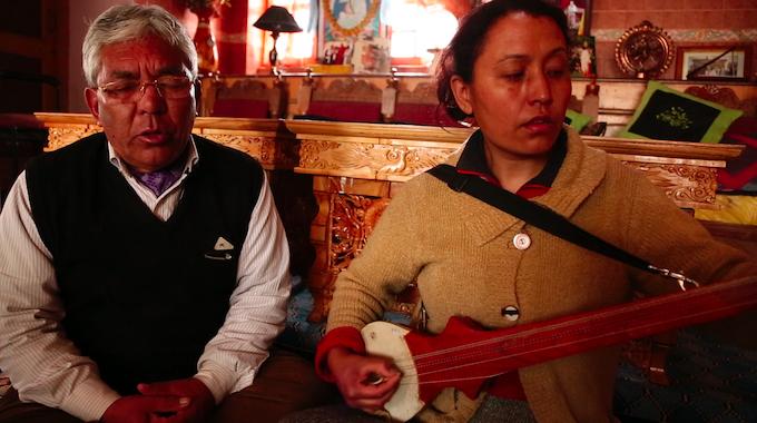 Morup Namgyal and daughter Chorol