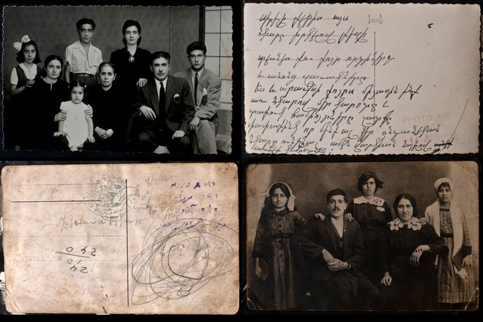 Postcards from relatives in Syria to my family in Massachusetts