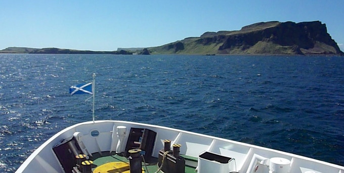 Arriving into Canna by ferry