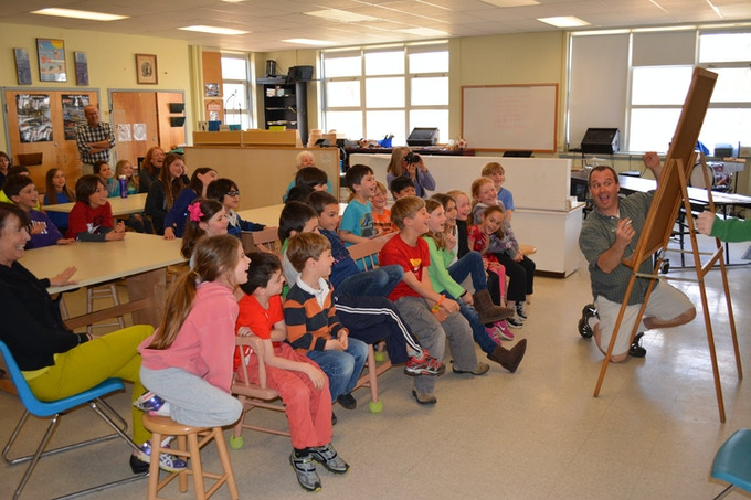 A fun author visit at a small island school in NH.